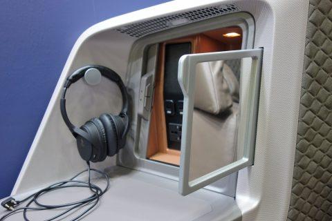 シンガポール航空ビジネスクラス/鏡