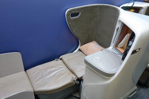 シンガポール航空ビジネスクラス/ベッドポジション