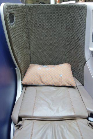 シンガポール航空ビジネスクラス/ベッド幅
