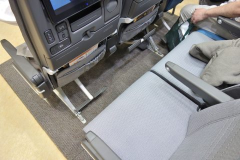 シンガポール航空エコノミークラス/シートピッチ