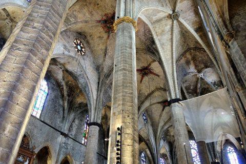basilica-santa-maria-del-mar-barcelona/柱