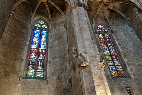 basilica-santa-maria-del-mar-barcelona/ステンドグラス