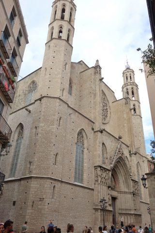basilica-santa-maria-del-mar-barcelona/全容