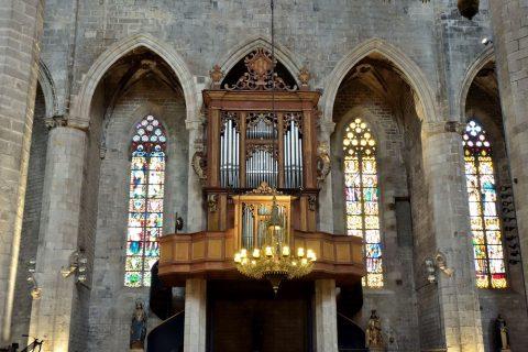 basilica-santa-maria-del-mar-barcelona/パイプオルガン