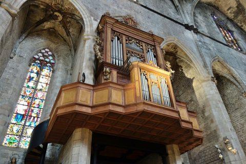 basilica-santa-maria-del-mar-barcelona/オルガンの音