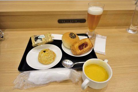 福岡空港ダイヤモンドプレミアラウンジ/軽食