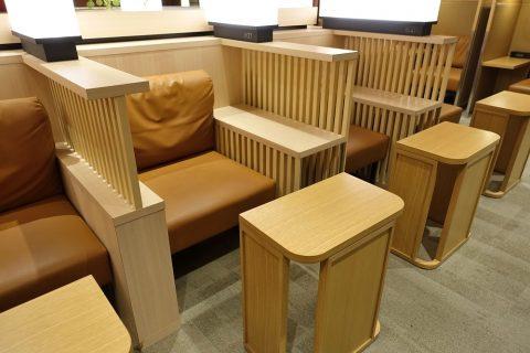 福岡空港ダイヤモンドプレミアラウンジ/個人用の席