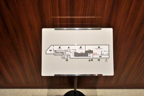 福岡空港ダイヤモンドプレミアラウンジのMAP