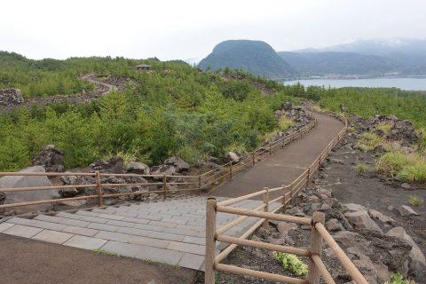 溶岩展望所の遊歩道