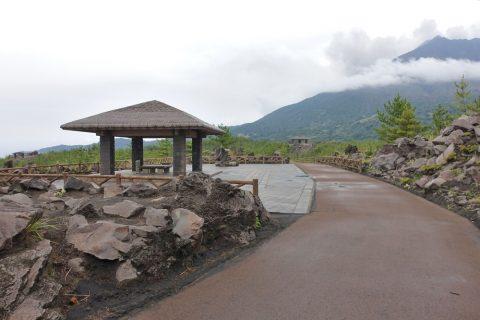 溶岩展望所のあずま屋