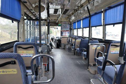 桜島バス車内
