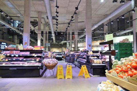 マドリードのスーパーの中