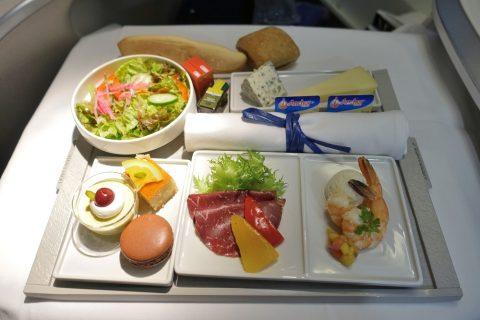 前菜のプレート/エールフランスビジネスクラス