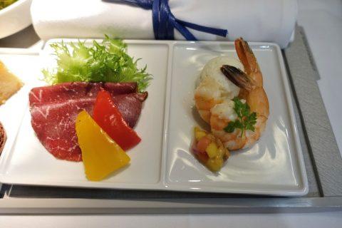 エールフランスビジネスクラスの美味しい前菜