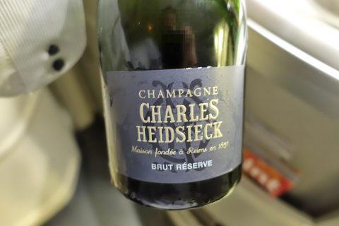 エールフランスビジネスクラスのシャンパン