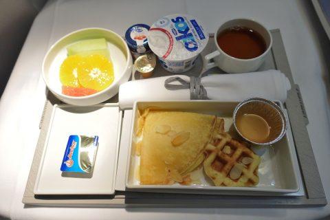エールフランスビジネスクラス朝食/羽田~パリ