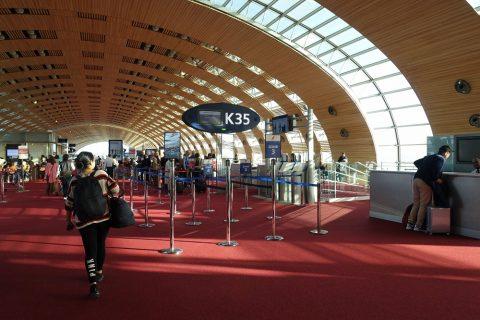 パリCDG空港ゲートK35