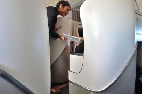 airfrance-businessclass-paris-haneda/メニュー配布