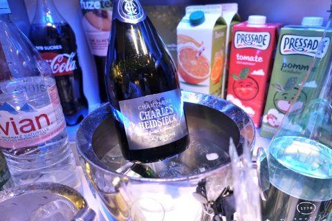 エールフランスのシャンパン