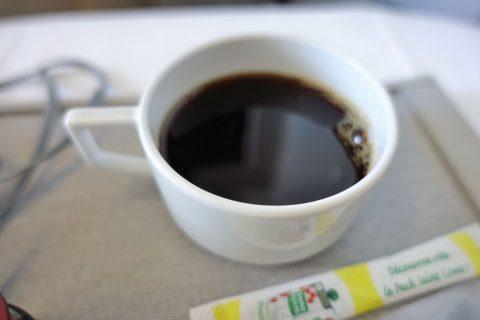 朝食のコーヒー/エールフランスビジネスクラス