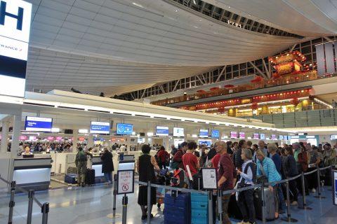 羽田空港チェックインカウンター/エールフランス