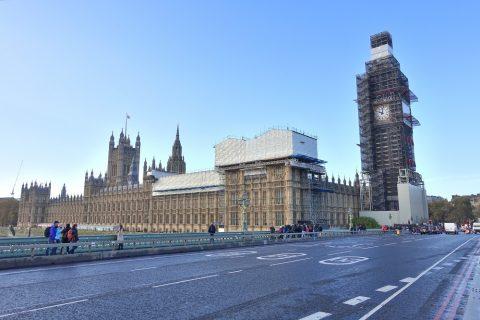 ロンドンの英国国会議事堂とビッグベン