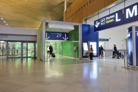 paris-CDG-transit/ターミナル2Fへの入口