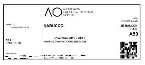 Auditorium-lyon/チケット