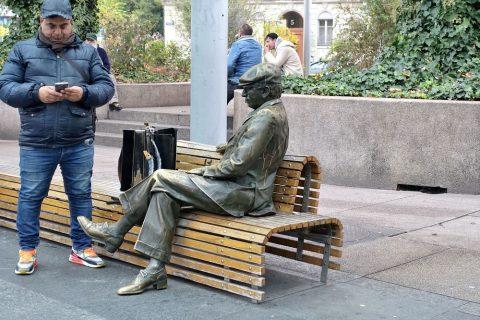 スイスの銅像