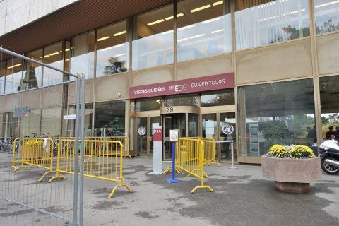 Palais-des-Nations/集合場所の入口