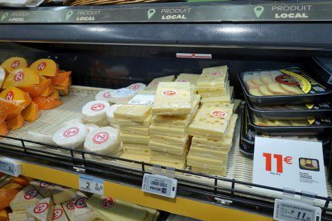 フランススーパーのチーズ