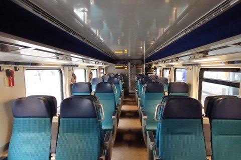 スイス国鉄の車内