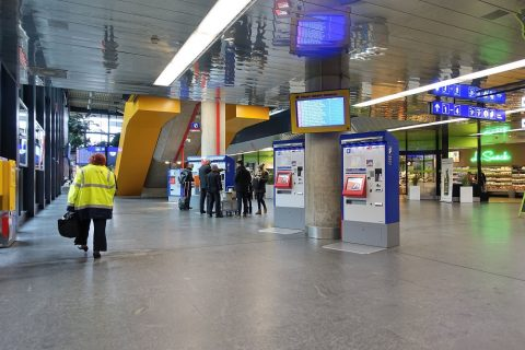 ジュネーブ国際空港列車乗り場