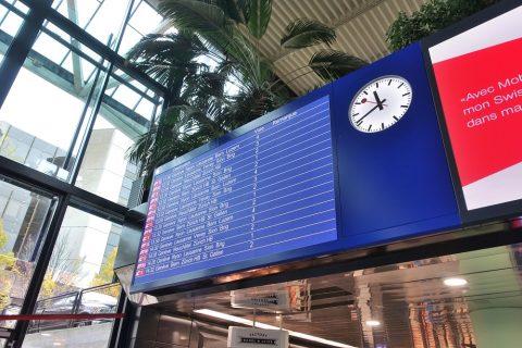 ジュネーブ国際空港駅時刻表