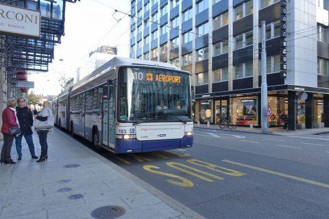 ジュネーブの路線バス