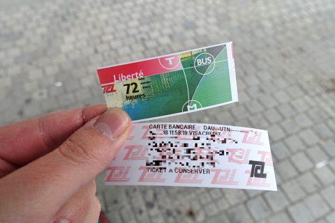 lyon-metro-tram/切符と領収書