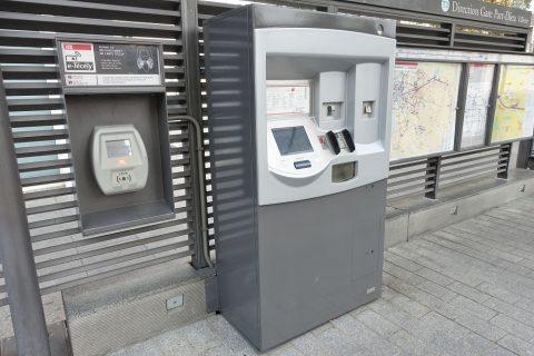 リヨントラムの券売機