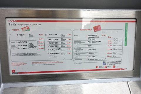 lyon-metro-tram/運賃