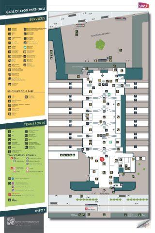 lyon-part-dieu構内MAP