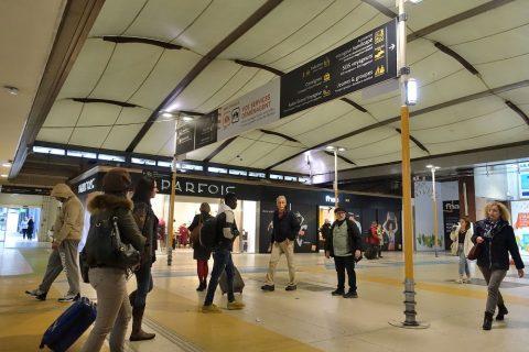 lyon-part-dieu駅の案内表示