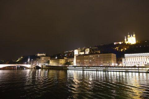 リヨンの夜景
