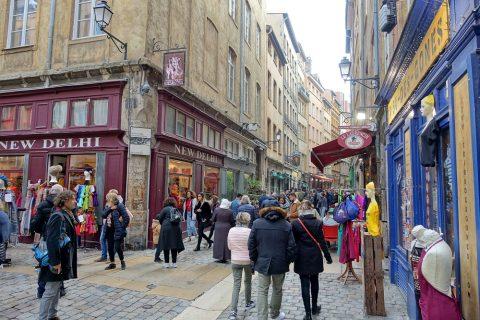 リヨン旧市街の街