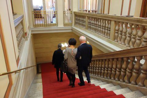 musikverein/ホワイエへの階段