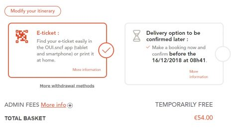 sncf/チケット受け取り方法