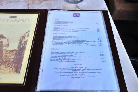Cafe-Restaurant-GUTENBERG/メニュー