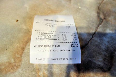 Cafe-Restaurant-GUTENBERG/会計