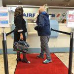 ジュネーブ国際空港のフランス領域/ちょっと珍しいAFチェックインカウンター