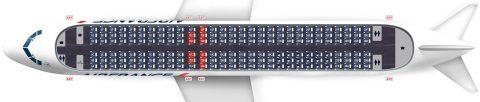 airfrance-a320シートマップ