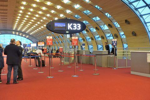 パリCDG空港K33