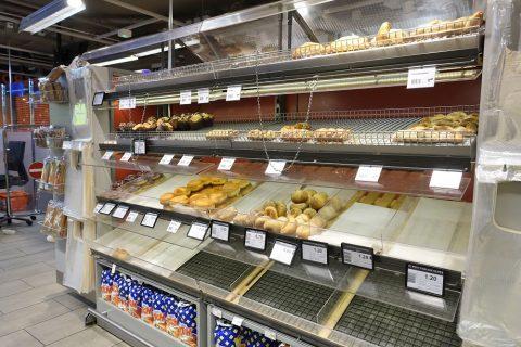 ジュネーブのスーパー/パン売場